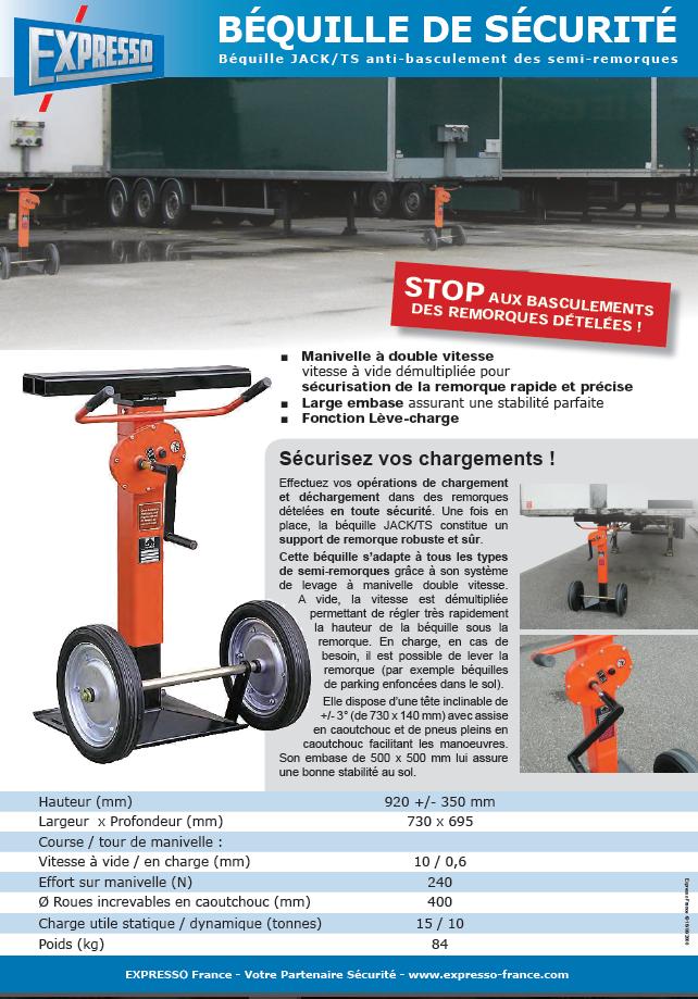 pdf picture from  Béquille de sécurité type JACK-TS pour remorque camion