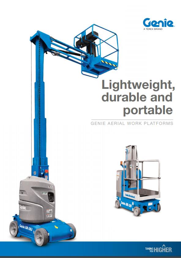 pdf picture from Genie aerial work platforms